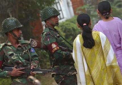Army on the streets of Bangladesh
