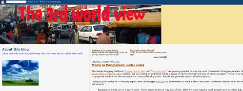 "Bangladeshi blog ""The 3rd World View"""