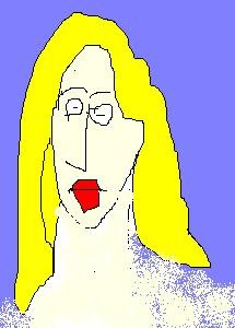 A drawing of Debbie Schlussel by Mash. (c) 2007 by Mash. All rights reserved.