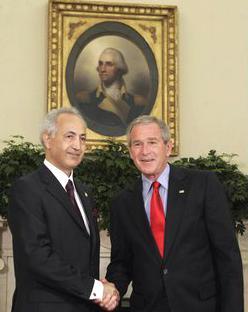 Iraqi Ambassador Samir Sumaidaie with President Bush