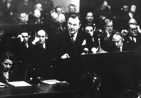 Justice Robert Jackson at the Nuremburg Trials