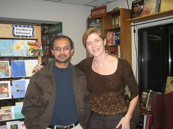 Samantha Power and me at Politics and Prose