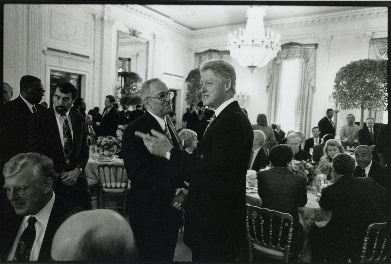 Bill Clinton with Reverend Jeremiah Wright at the White House